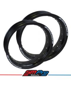 Supermoto Honda CR125 Rim - Front & Rear - 17 x 3.50 & 17 x 5.00 (36)Gloss Black