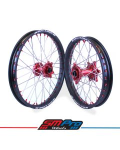 Suzuki Red Hubs / Matte Black Rims / Red Nipples / Stainless Spokes
