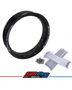Honda CRF 250R Rim & Spokes Set - Front - 16.50 x 3.50 (36) - Gloss Black