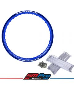 KTM SX/SXF 125-450 (03-19) Rim & Spoke Set (SMPro Platinum) 19x2.15 Rear - Blue
