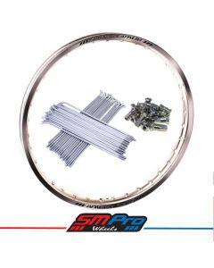 KTM SX/SXF 125-450 (03-19) Rim & Spoke Set (SMPro) 21x1.60 Front - Gloss Silver