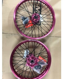 "KTM SX/SXF 125-450 Pink Wheel Set - 21"" 19"""