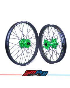 Kawasaki Green Hubs / Matte Black Rims / Green Nipples / Black Spokes