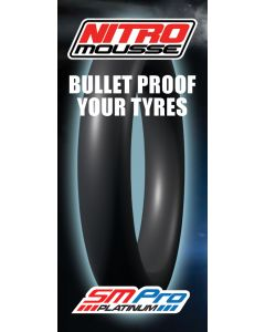 Nitro Mousse Fits most tyres sized: 80/100-21 & 90/90-21