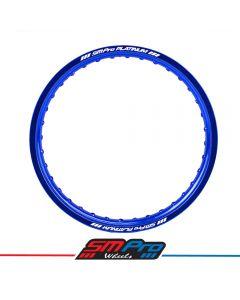 Rim (SM Pro Platinum)- 18 x 2.15 (26)- Blue- Yamaha WRF 250/400/450, WR 250R/X Drilling
