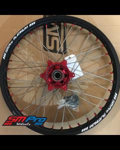 SM Pro PLATINUM Wheel - Beta - RR 4T & 2T Enduro Bikes (13-19) - Front (21 x 1.60) - Red Hub / Matte Black Rim / Red Nipples