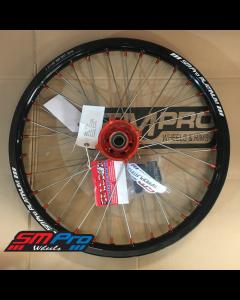 SM Pro PLATINUM Wheel - KTM - Freeride (12-19) - Front (21 x 1.60) - Orange Hub / Gloss Black Rim / Orange Nipples