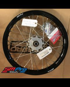 SM Pro Speedway Wheel (Rear) - 19 x 2.15 - Silver Hub / Gloss Black Rim / Nickel Nipples
