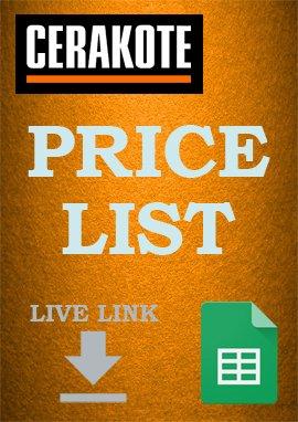 Cerakote Price List